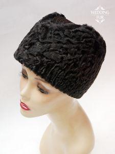 Пилотка из меха модные шапки из каракуля