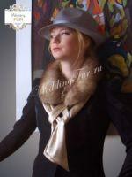 Воротник из соболя Wedding fur дизайнерский купить фото