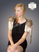 Воротник из меха соболя Wedding fur дизайнерский купить фото