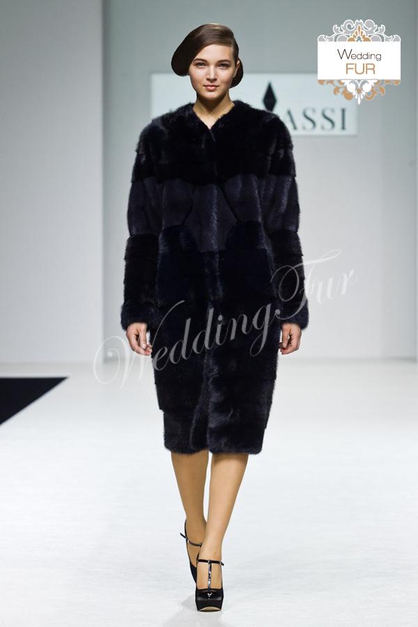 Дизайнерская шуба с показа Алины Асси Wedding fur