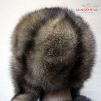 Ушанка из соболя фотография со спинки